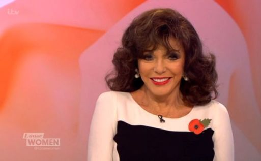 Joan Collins Gives A Load Of Cloths To Local Charity Shop