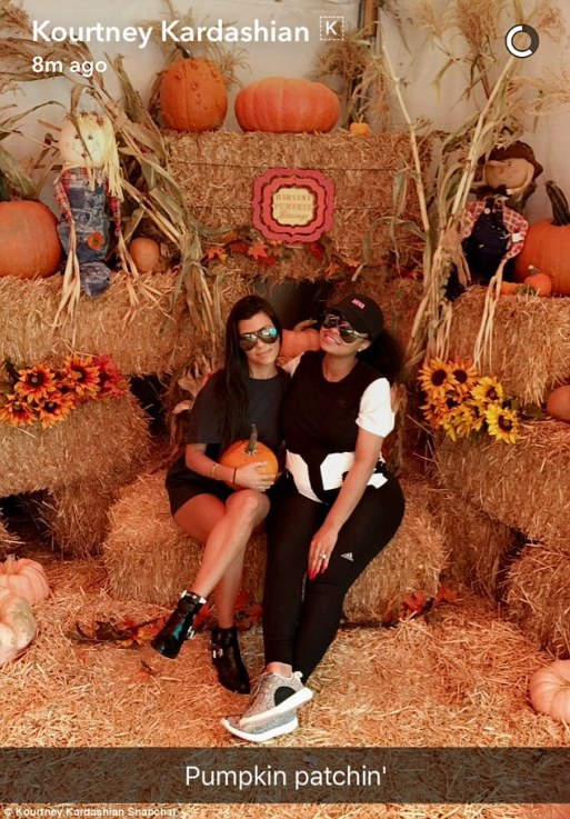 Kourtney Kardashian And Blac Chyna Go Pumpkin Shopping Together