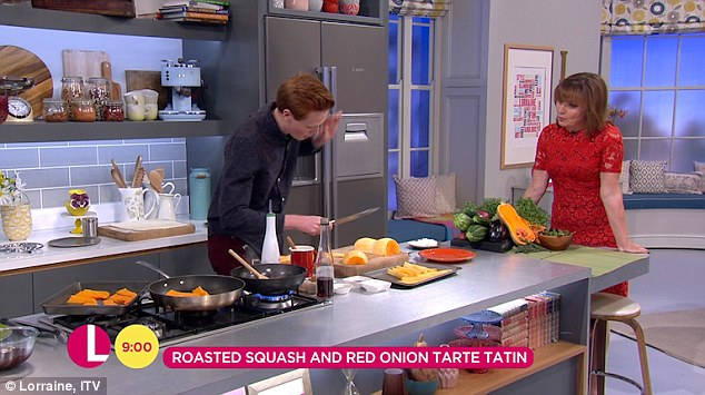 GBBO's Andrew Smyth Nearly Cuts His Finger Off Live On Lorraine After Cutting A Vegetable