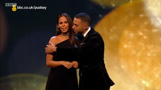 Marvin Humes Cuddles His Wife Rochelle While Presenting Children In Need
