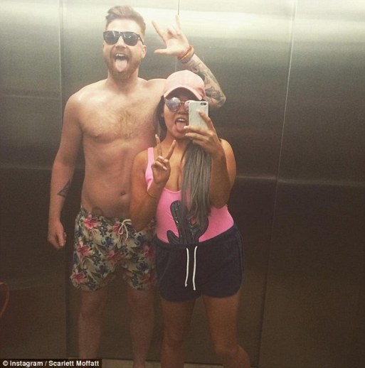Did Scarlett Moffatt Fake Her Claustrophobic As She Shares Number Of Lift Selfies With Boyfriend Luke Crodden
