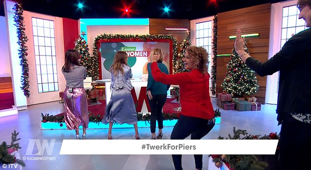 Piers Morgan Teases The Loose Women As They Twerk In His Honor