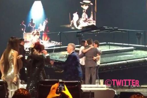 Simon Cowell Hugs Louis Tomlinson After His Heartbreaking X Factor Performance