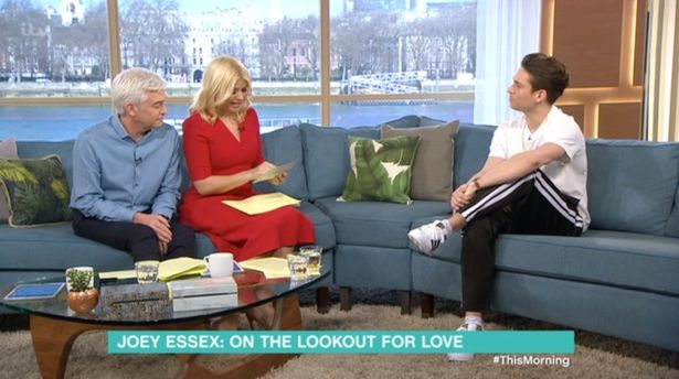 Joey Essex Leaves Holly Willoughby And Phillip Schofield Shocked After He Admits He Wouldnt Date Jeorgie Porter
