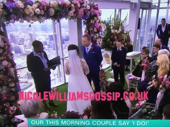 This Morning Hold A Wedding Live On The Show From The Shard