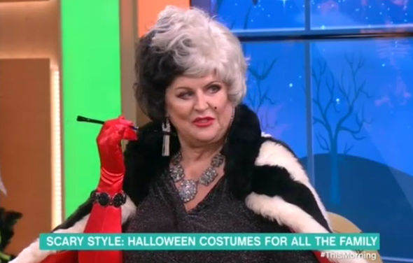 Kim Woodburn Forced To Shout Over Crying Baby On This Morning During Halloween Segment