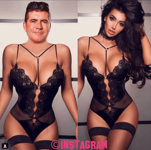 Chloe Khan Puts Simon Cowell's Face On Her Body In Funny Instagram Post