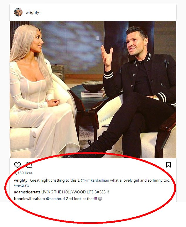 Mark Wright Gets Mocked For Calling Kim Kardashian A 'Girl'