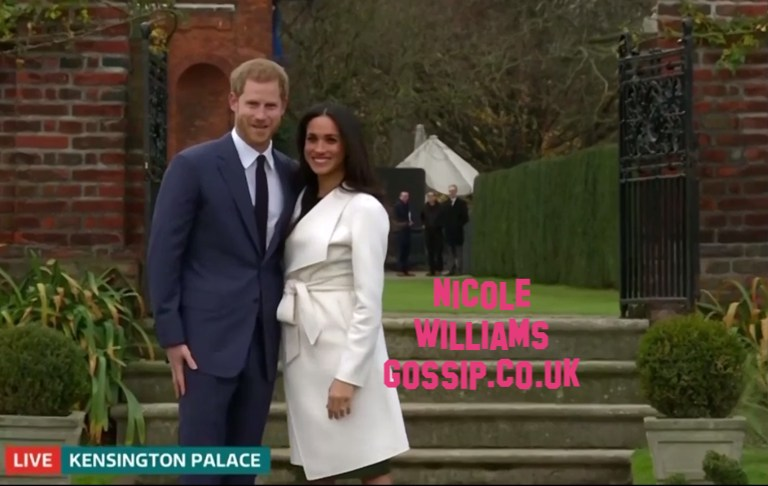 Meghan Markle And Prince Harry Have Official Photo Together Outside Kensington Palace
