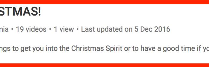 25 Days of Christmas 2016 | #6 Christmas Playlist