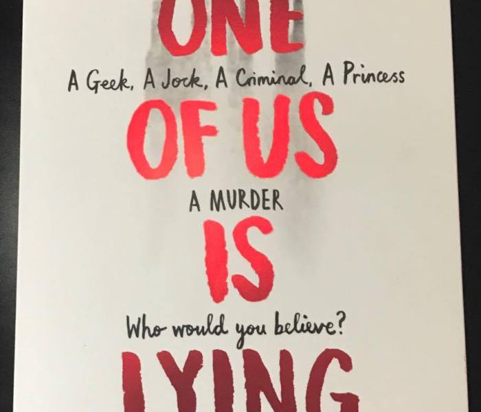One of Us Is Lying – Karen M. McManus