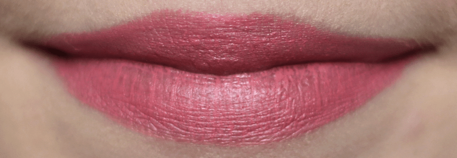 Essence Velvet Matte Lipstick Lip Swatch