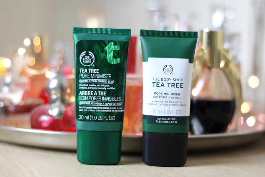 The Body Shop Tea Tree Serum Old and New Packaging