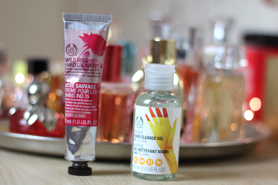 TBS Wild Rose Hand Cream & Mango Hand Sanitizer