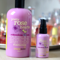 Treacle Moon Pretty Rose Hearts Shower Gel & Hand and Body Lotion