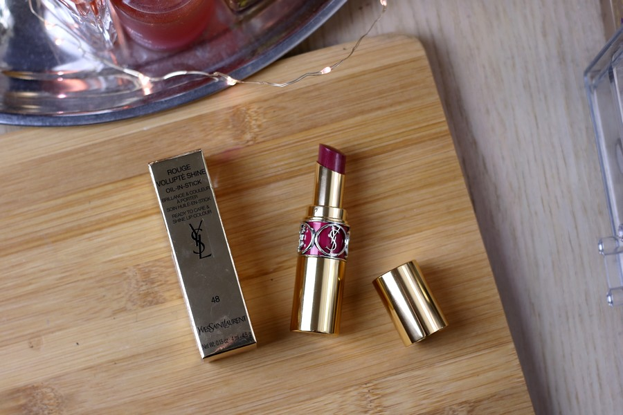 Yves Saint Laurent Rouge Volupte Shine Lipstick in Smoking Plum
