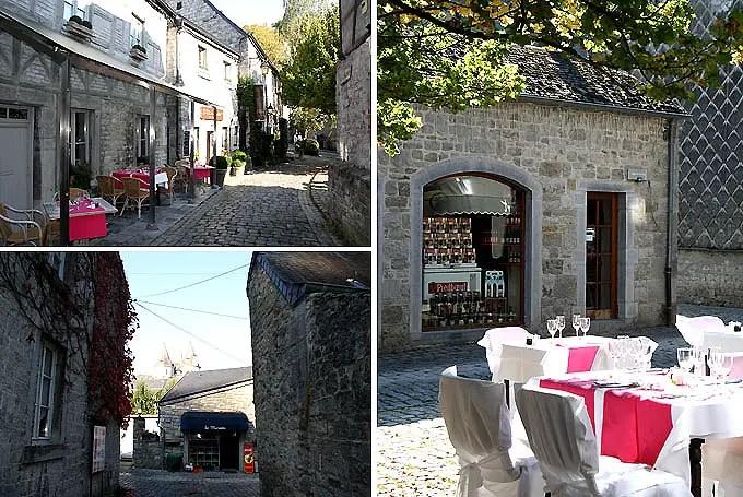Bilder von Gassen und Gebäuden in Durbuy im Belgien Urlaub