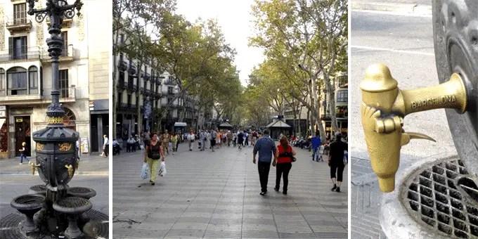 Barcelona Städtereise Las Ramblas und die Font de Canaletes