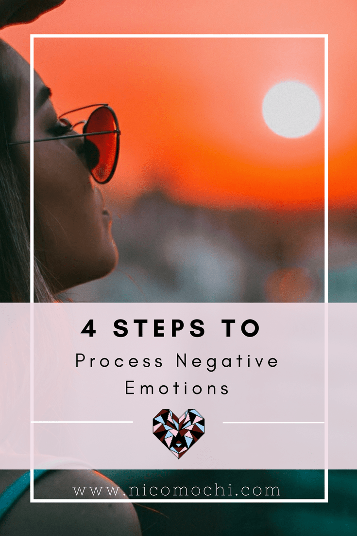 4 Steps to Process Negative Emotions | For the majority of my life, I've been a heavy self-criticizer. I'm sure many people out there are the same way. When I would feel negative emotions, I would direct it toward myself and berate myself endlessly. How can we process and release these negative emotions in a healthy way? #emotions #mentalhealth #mentalwellness #mentalillness #endthestigma #depression #anxiety #socialanxiety #bipolardisorder #bpd #mentalhealthawareness #selfcare #cbt #bkty #imperfectionism