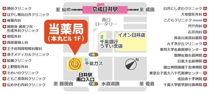 安田ひろふみ処方箋漢方薬局周辺マップ