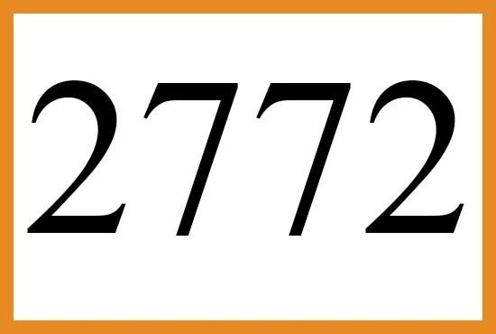 2772のエンジェルナンバーの意味