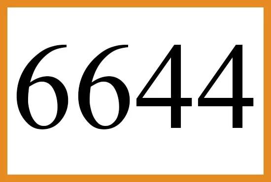 6644のエンジェルナンバーの意味について