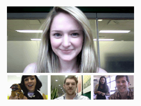 Video conference Google plus