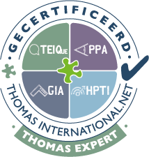 Gecertificeerd assessor DISC PPA SPA Thomas International. Voor beroepskeuze, wering en selectie, recruitment en emotionele intelligentie.