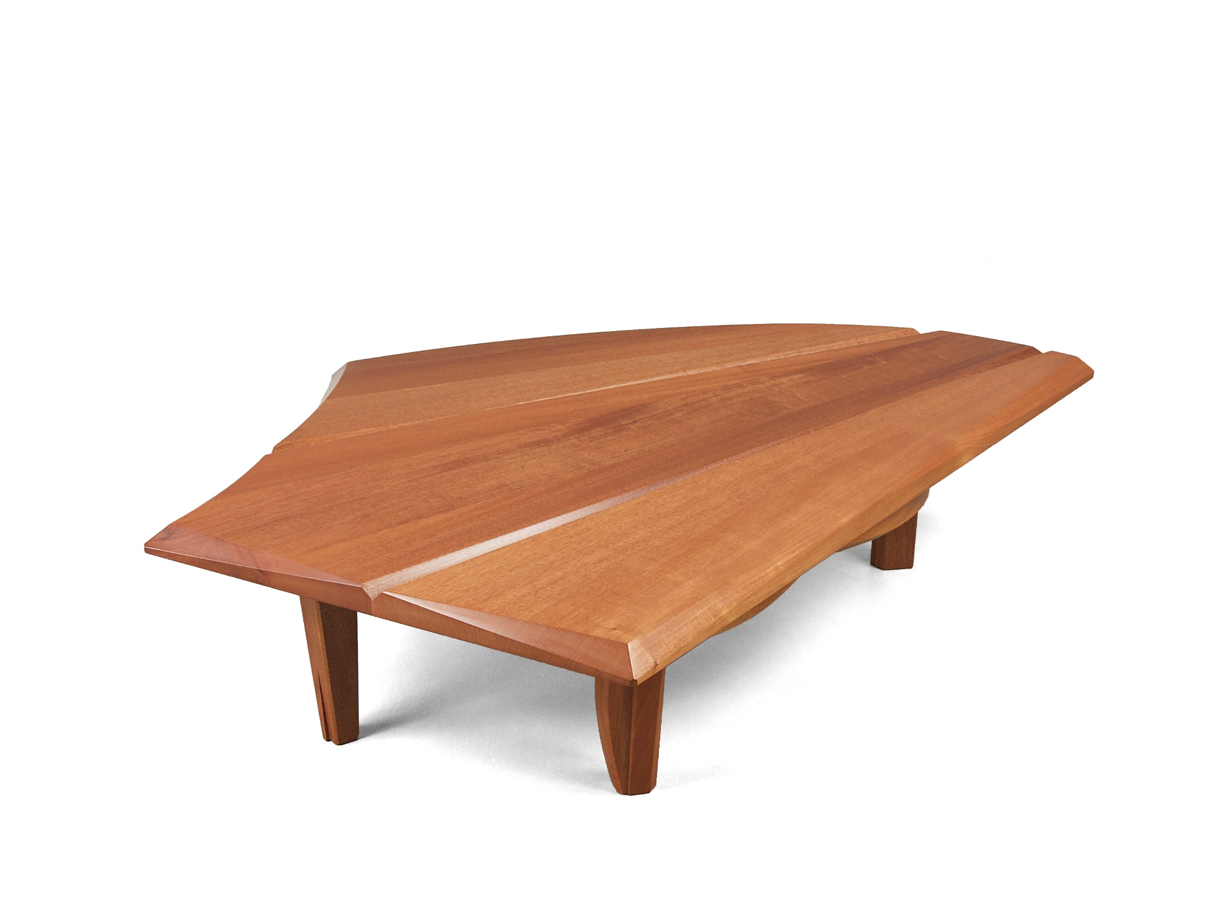 Curved Wood Coffee Tables Nico Yektai: Curved Coffee Table- Modern Wood Coffee Table
