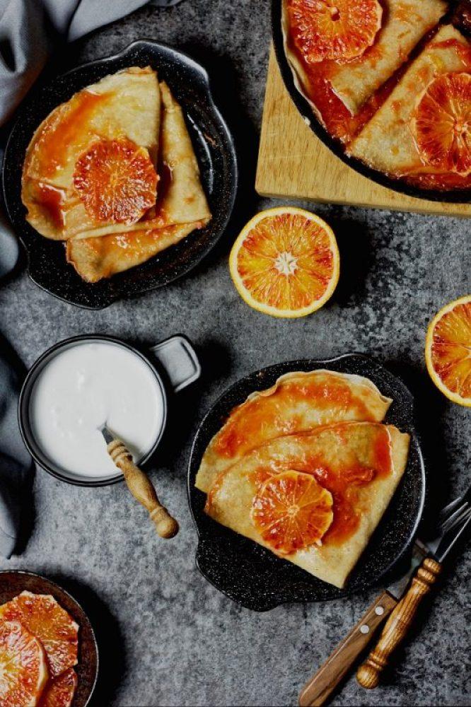 Naleśniki crepes suzette bezglutenowe i wegańskie