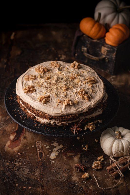 Ciasto dyniowe z kremem kawowym. bezglutenowe