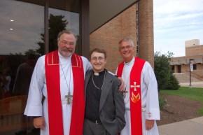 Rev. Dr. Matthew Harrison, Rev. Matthew Schettler, and President Allan Buss