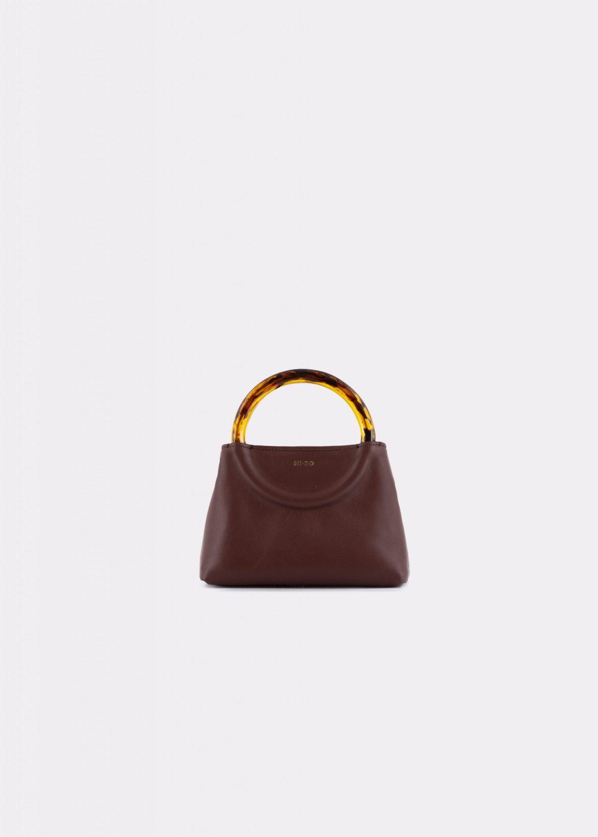 NIDO Bolla_Micro bag chestnut_front view