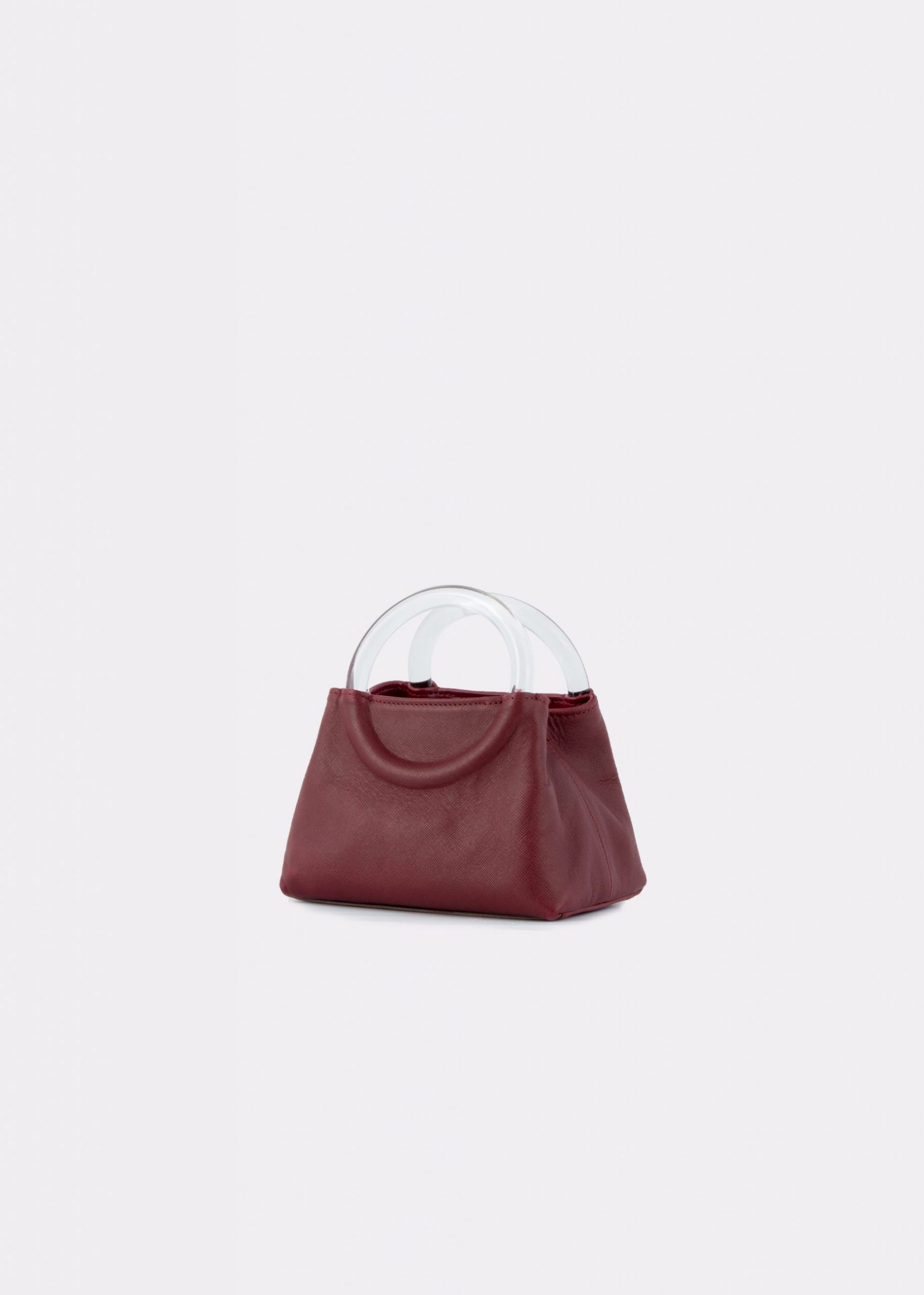 NIDO-Bolla_Micro-bag-bordeaux_side view