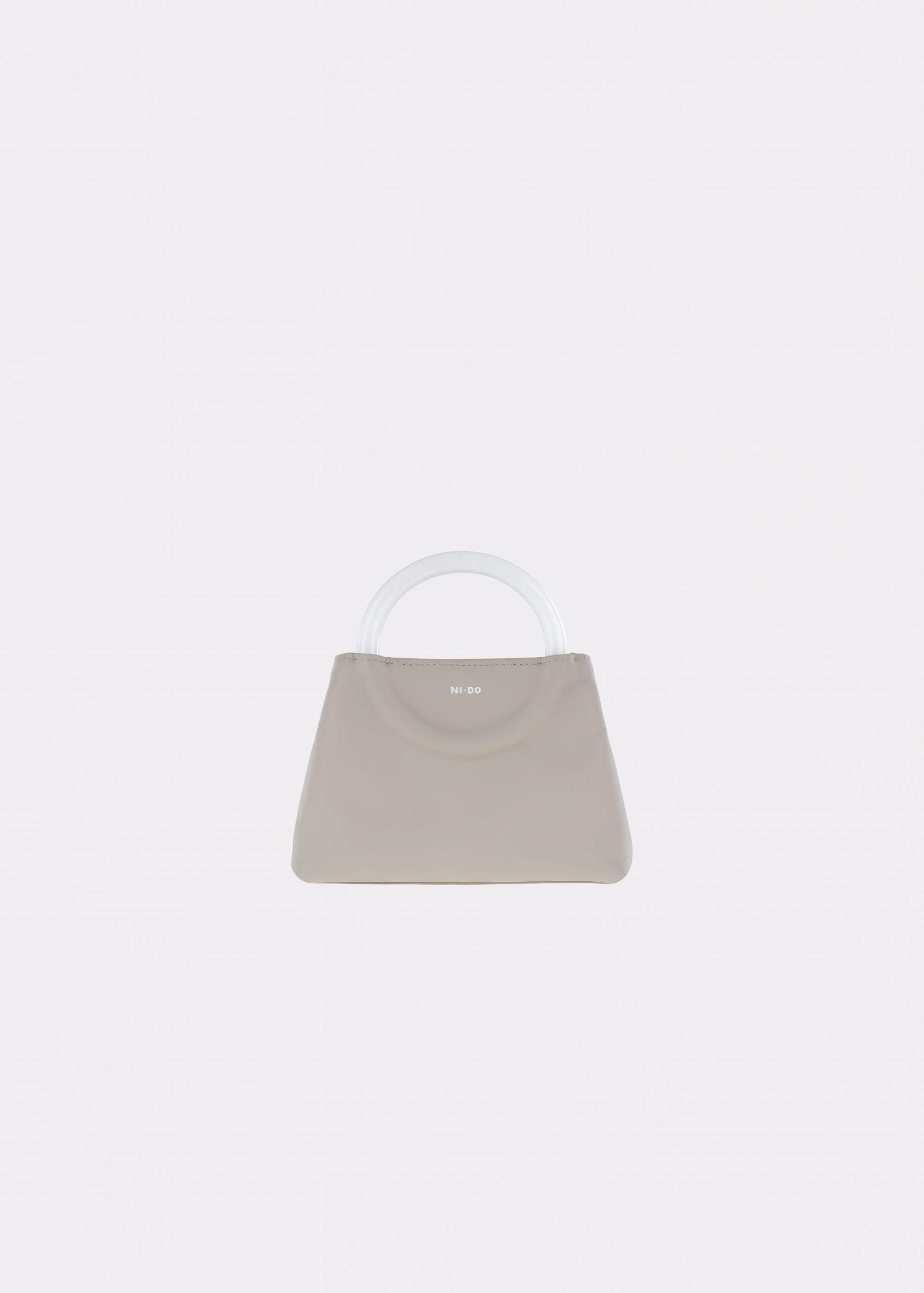 NIDO-Bolla_Mini-bag-Ice-Pearl_front view