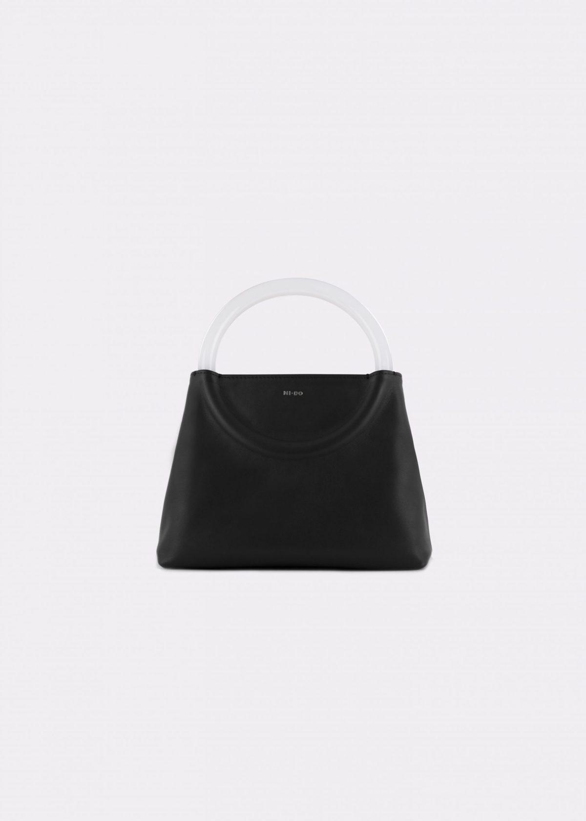 NIDO-Bolla_Mini-bag-black-Pearl_front view