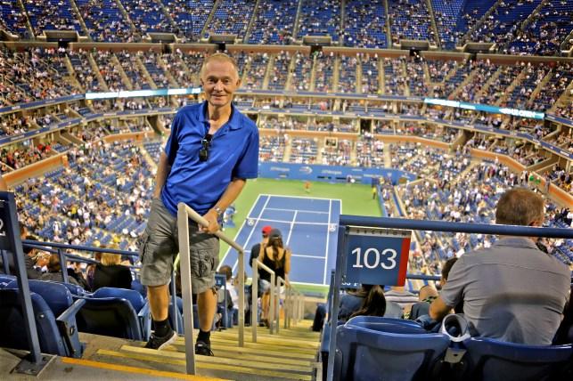 Wolfgang bei der US Open