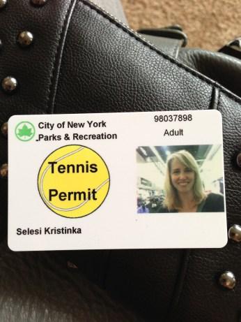 Tennis Permit