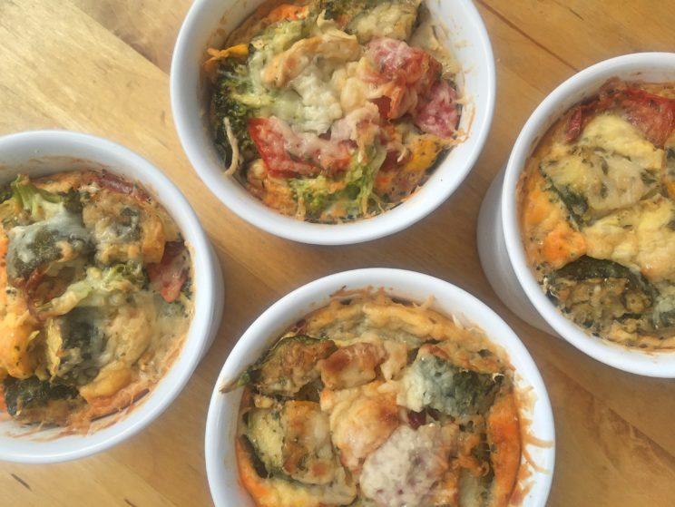 Przepis na pieczone warzywne muffiny