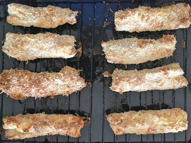 ryba bez smażenia - chrupiace fish and chips z piekarnika