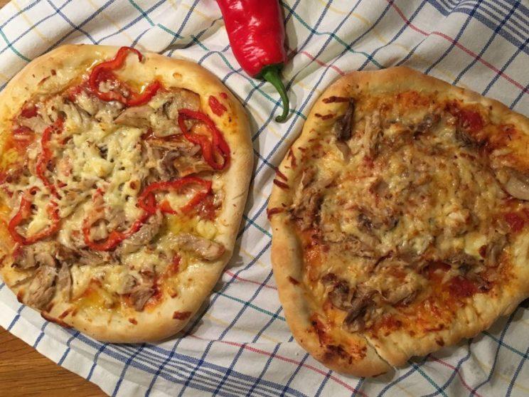 Sposób na resztki - pizza z kurczakiem