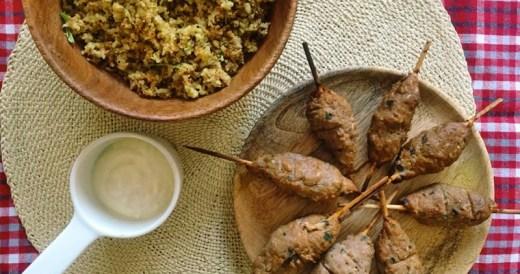 domowy shish kebab