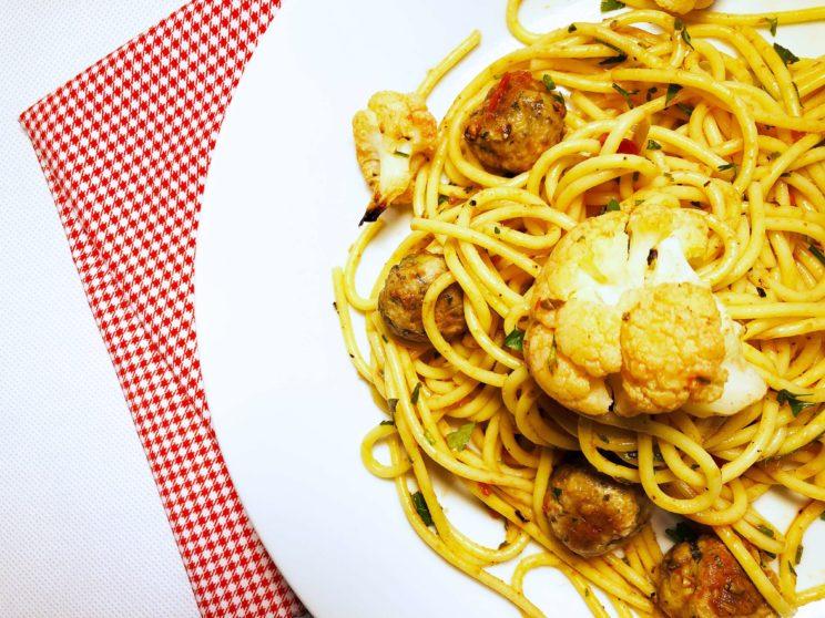 plan posiłków na tydzień spaghetti z kalafiorem