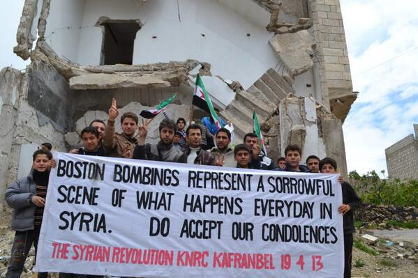RT @HaraldDoornbos: #Boston #Syrie Ik vind dit een…
