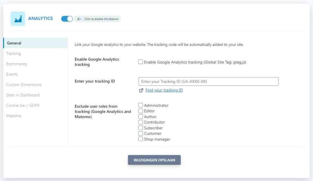 Seopress Analytics General