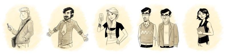 Geometry Girl characters