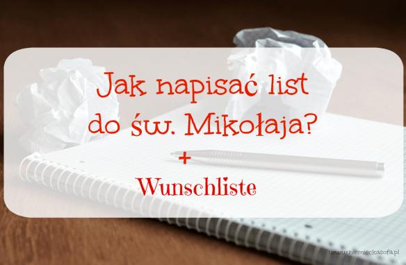 Jak napisać list po niemiecku? + Wunschliste