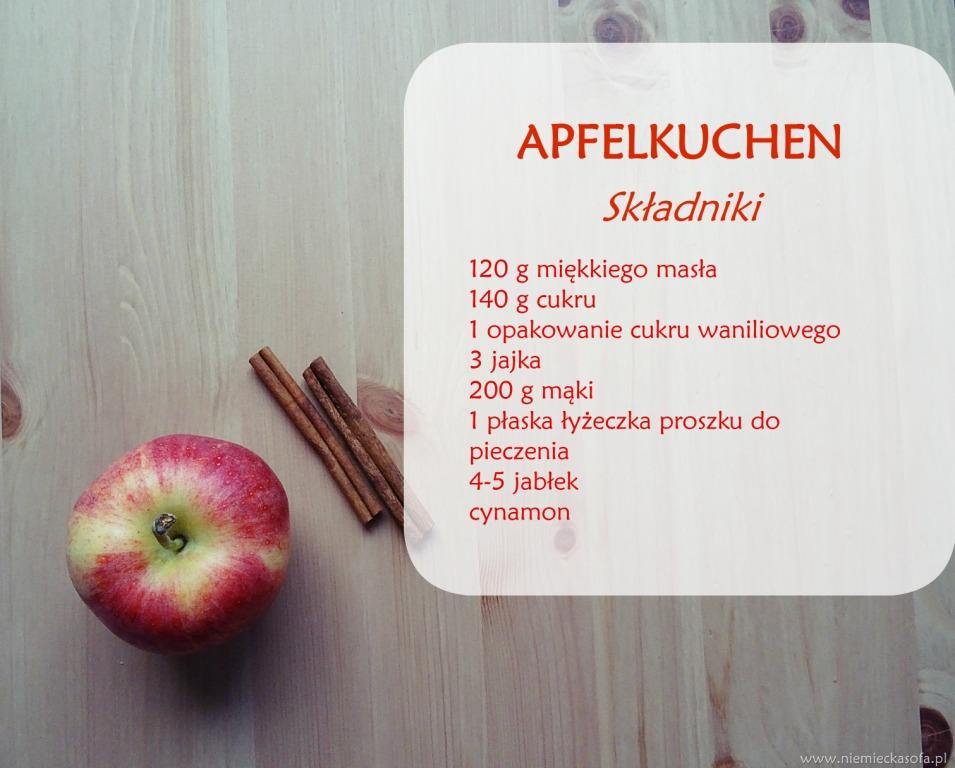 Apfelkuchen-składniki