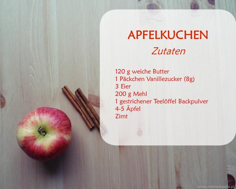 Apfelkuchen-zutaten
