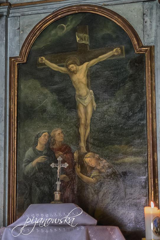 Obraz w ołtarzu z wizerunkiem Marii Magdaleny